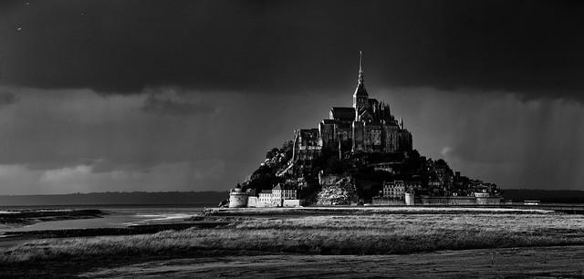 Storm over Mont St Michel
