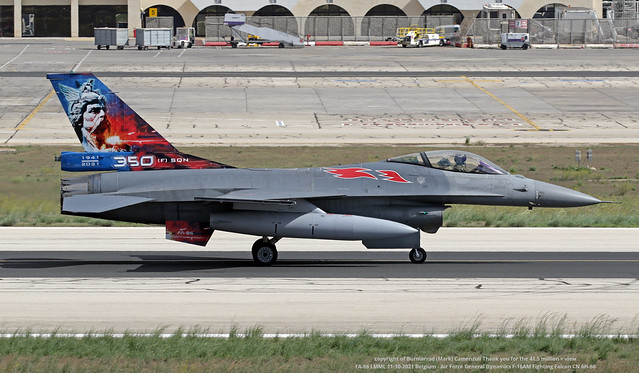 FA-86 LMML 11-10-2021 Belgium - Air Force General Dynamics F-16AM Fighting Falcon CN 6H-86