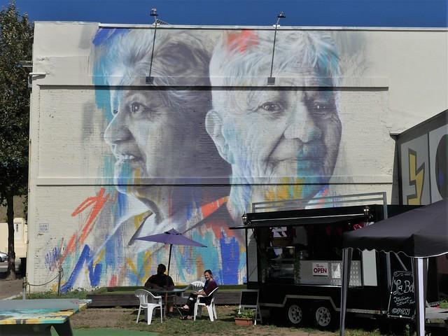 Wanganui: Claire Foxton mural (c.2019)