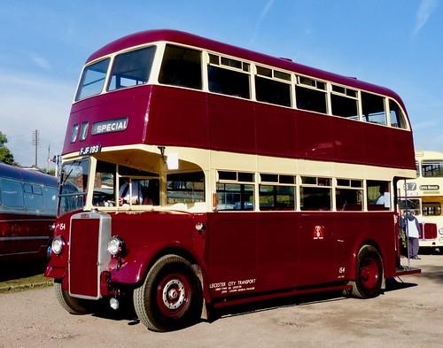 FJF 193 'Leicester City Transport' No. 154. Leyland PD2 / Leyland /1 on Dennis Basford's railsroadsrunways.blogspot.co.uk'