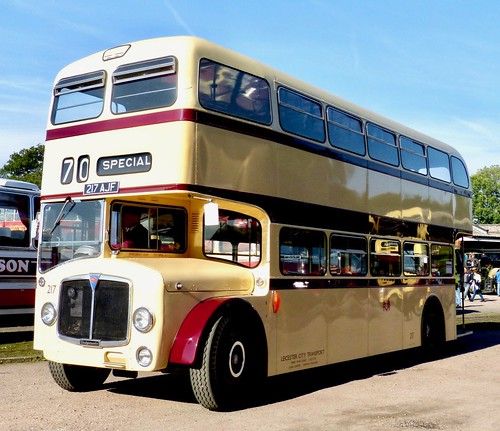 217 AJF 'Leicester City Transport' No. 217. AEC Bridgemaster / Park Royal /1 on Dennis Basford's railsroadsrunways.blogspot.co.uk'