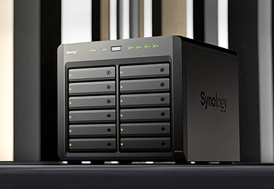 The company's two biggest desktop form factor products - the Synology DiskStation DS3622xs+ (in this photo) and DS2422+ - boast computing power to match their storage potential.