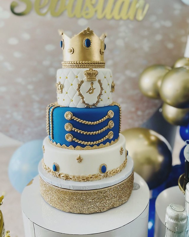Prince Baby Shower Cake from Divine Cakes by Maritza