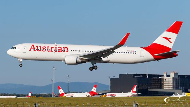 VIE - Austrian Airlines Boeing 767-300 OE-LAE