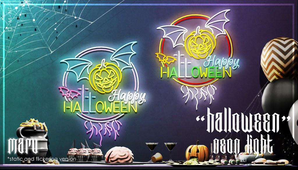"MARU x ""Halloween"" Neon Light"