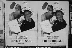 Tony Bennett & Lady Gaga paste-up, Shoreditch