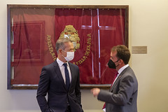 El alcalde Juan Carlos Abascal, con Ander Gil.
