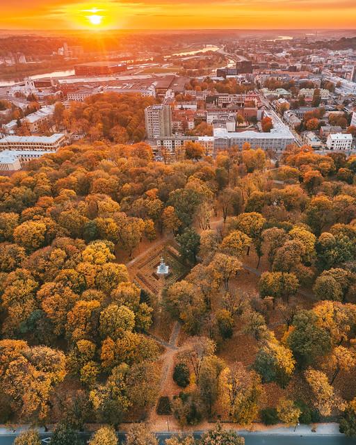 Autumn park   Kaunas aerial #284/365