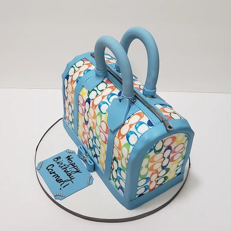 Coach Inspired Purse Cake by A Scrumptious Piece