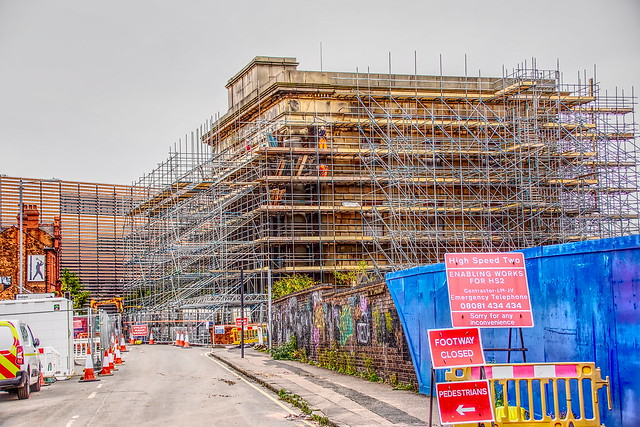 HS2   The former Curzon St  Railway Station is having a refurb,