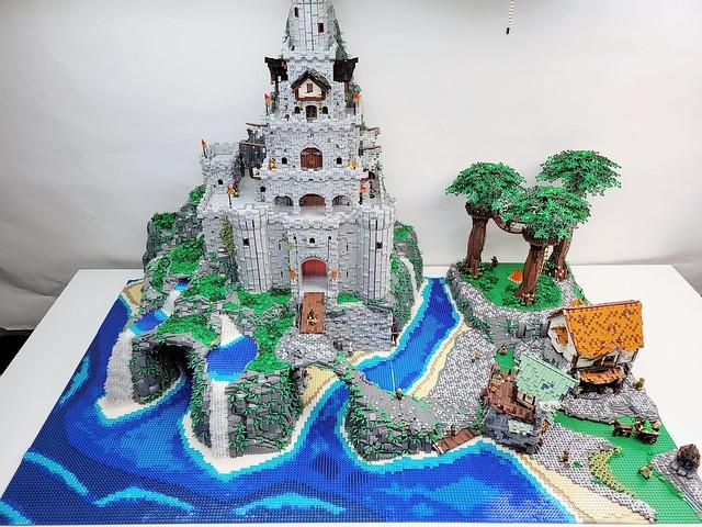 Lego Castle Rock Falls