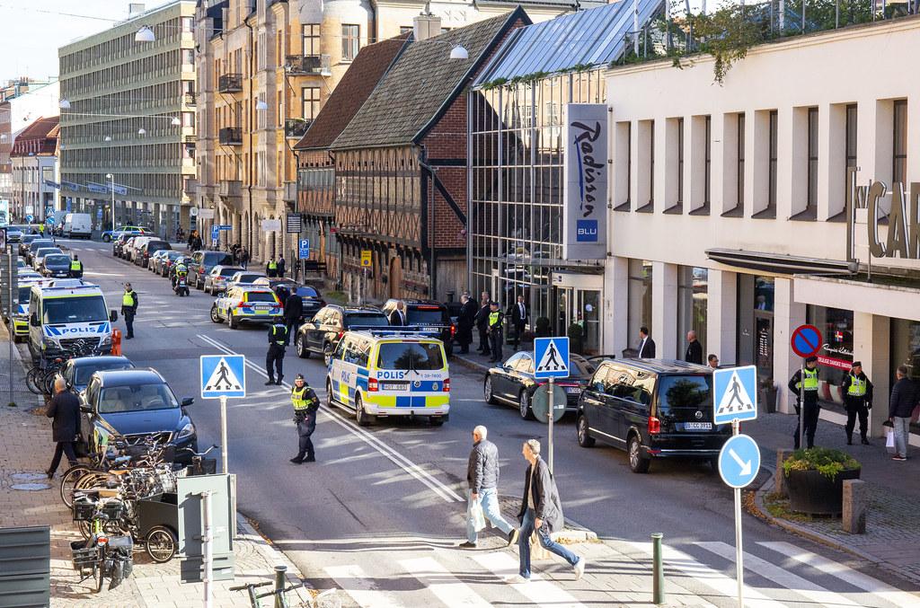 211012_Östergatan avspärrad under Förintelsekonferensen i Malmö