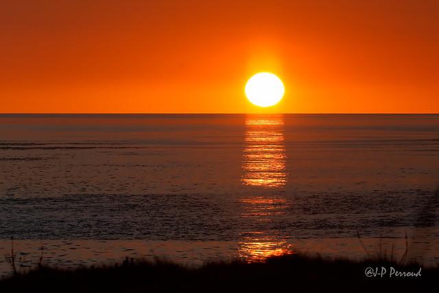 Coucher du soleil aux Roches Grises