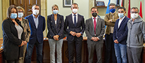 El equipo de gobierno, con Ander Gil