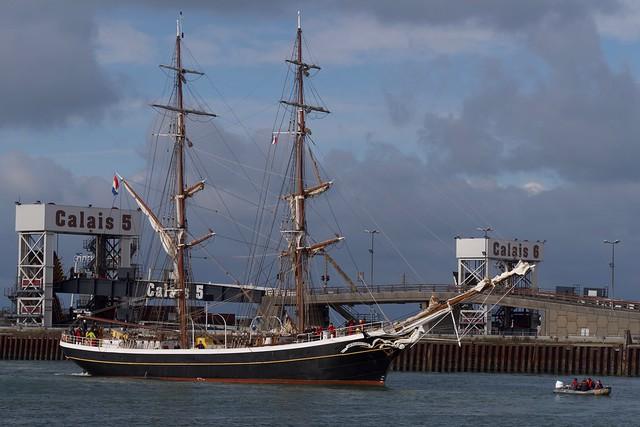 Arrivée du Morgenster au port de Calais