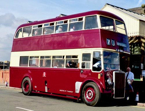 FJF 193 'Leicester City Transport' No. 154. Leyland PD2 / Leyland /2 on Dennis Basford's railsroadsrunways.blogspot.co.uk'