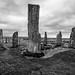 Callanish Stone Circle, Isle of Lewis, Scotland, UK B&W