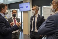 Tomás Iriondo les ha explicado el funcionamiento del Laboratorio IoTBasque Izarra.