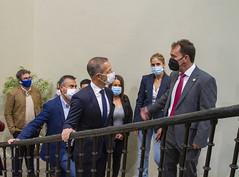 Ander Gil ha podido ver las instalaciones del Ayuntamiento de Ermua.