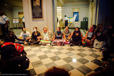 Bureau of Indian Affairs Action - People vs Fossil Fuels