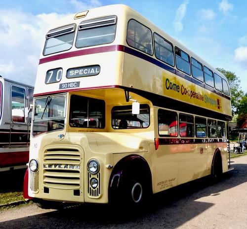 90 HBC 'Leicester City Transport' No. 90. Leyland PD3A / East Lancs on Dennis Basford's railsroadsrunways.blogspot.co.uk'