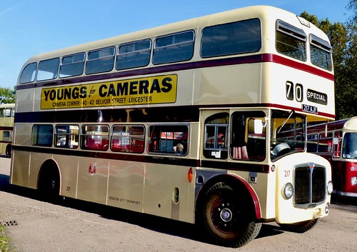 217 AJF 'Leicester City Transport' No. 217. AEC Bridgemaster / Park Royal /2 on Dennis Basford's railsroadsrunways.blogspot.co.uk'