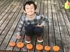 Ezra with Pumpkins