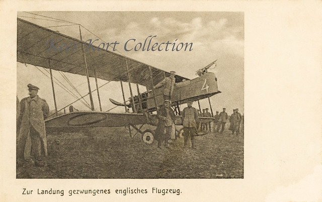 Captured French army Maurice Farman M.F.11 with number '4' [France, 1915]