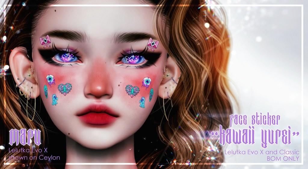 "MARU ""Kawaii Yurei"" Face Sticker"