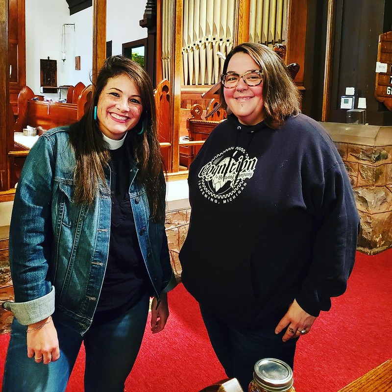 Lydia Bucklin (Episcopal Diocese of Northern Michigan) and Janelle Buttery (Taproom Manager)