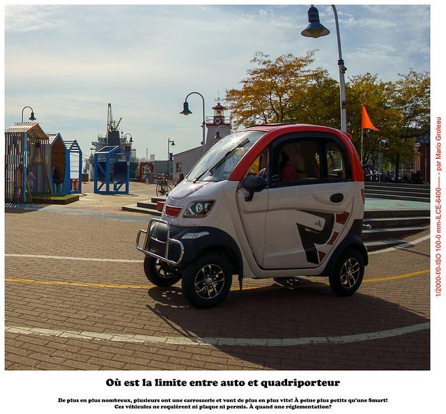 Où est la limite entre auto et quadriporteur