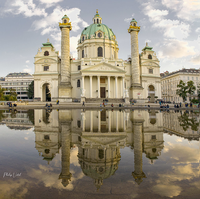 Karlskirche , Vienne ( Autriche )