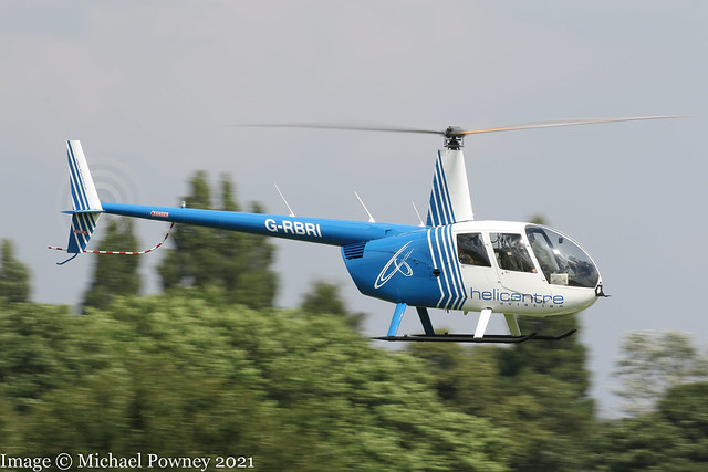G-RBRI - 2007 build Robinson R44 Raven II, inbound to Barton for a re-fuel and a night stop