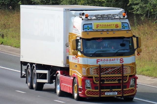 Froggatt's Haulage, Volvo FH (SF03BBV) On The A1M Northbound