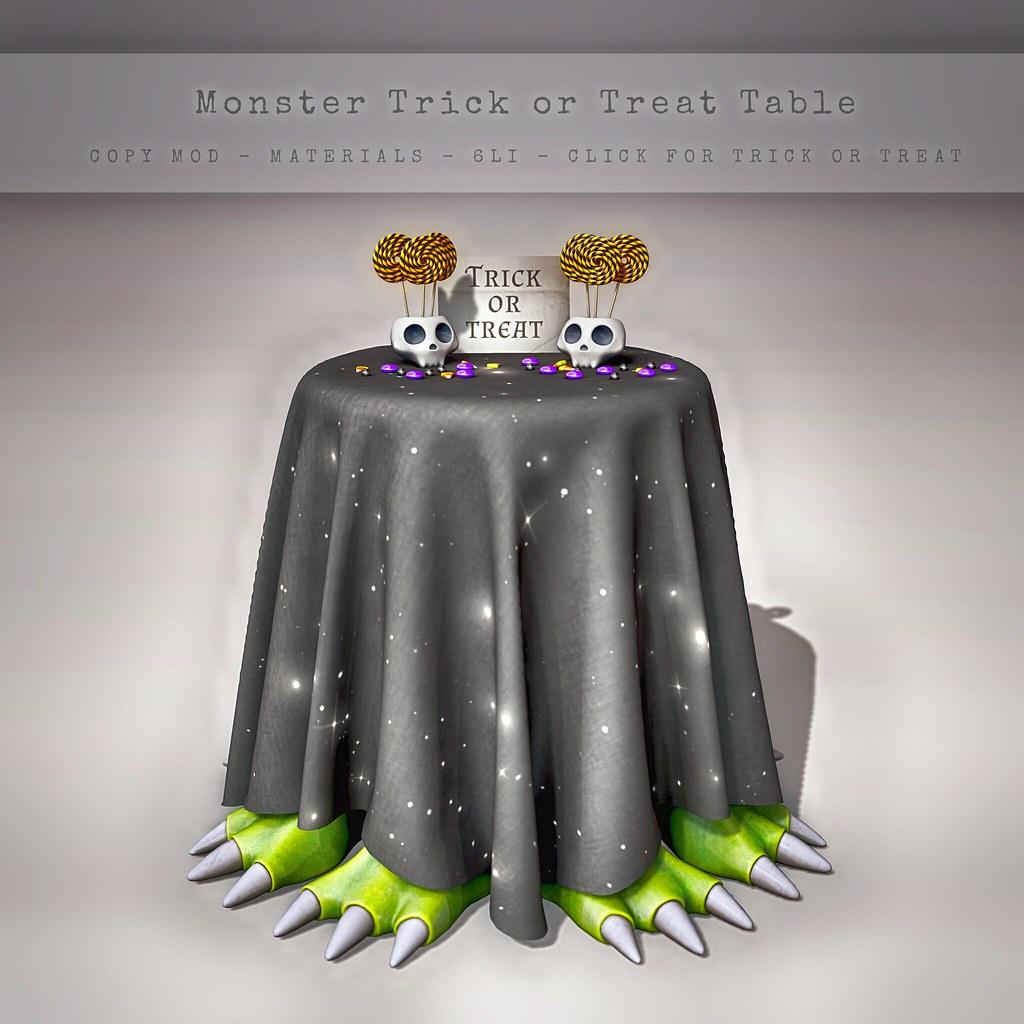 CELESTE – Monster Trick or Treat Table