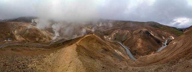 Geothermal area Hveradalir, Sudurland, Iceland - explored