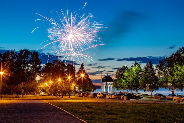 Fireworks in Petrozavodsk