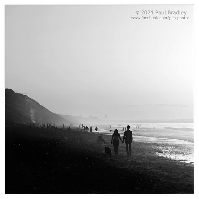Late evening beach folk