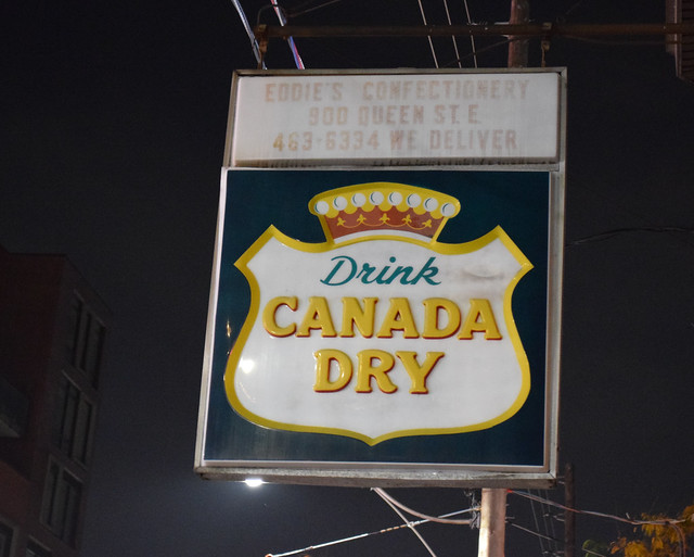 1953 eddie's confectionery / drink canada dry