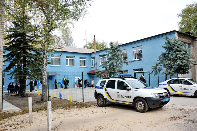 October 2021: UNDP opens police station in Zolote, Luhansk Oblast