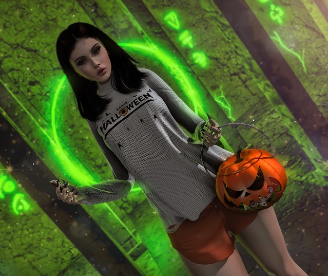 Yasmina with our Trick or Treats Pumpkin - [Chris Two Designs]