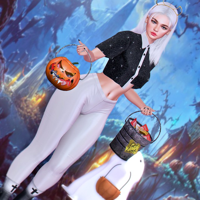 Pekenna with our  Trick or Treats Pumpkin and Bucket - [Chris Two Designs]