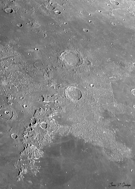 Aristoteles and Eudoxus Craters in Late Morning Light