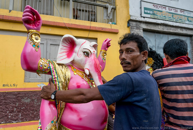 Ganesha in Kumartuli, Kolkata, India.