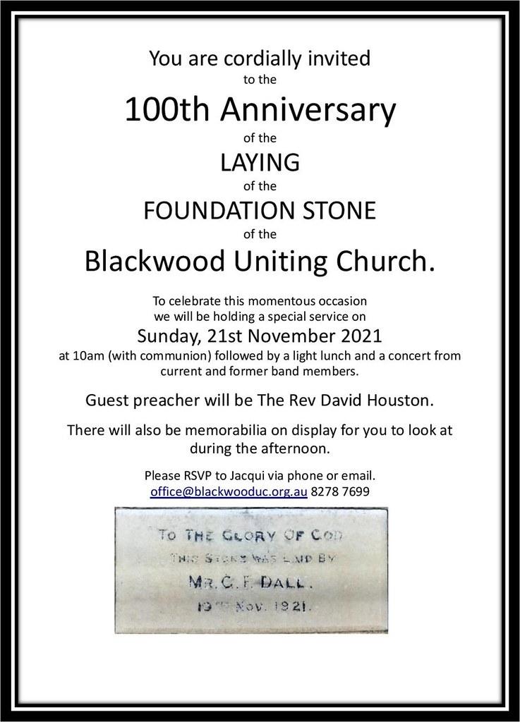 100th Anniversary Invitation