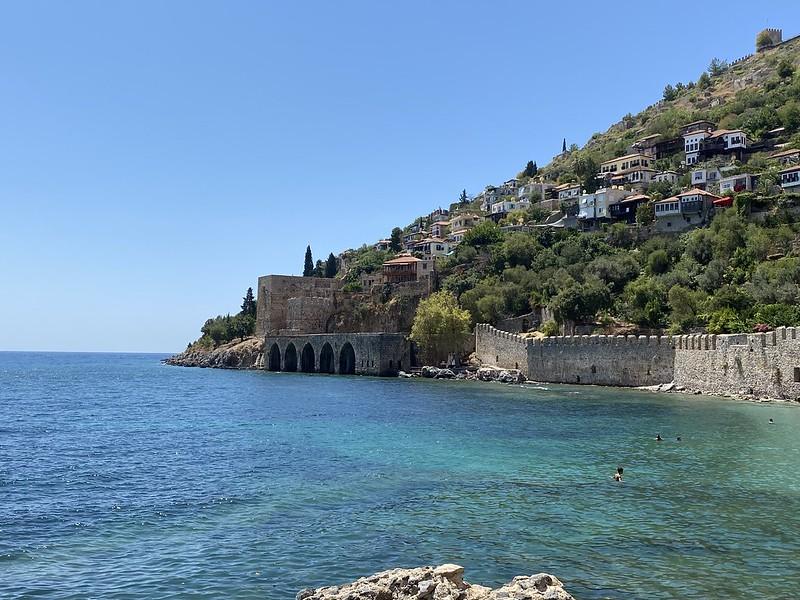 Турция - Аланья - Купание у крепости