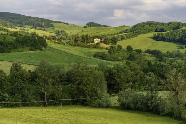 Rural landscape near Salsomaggiore, Parma, at springtime