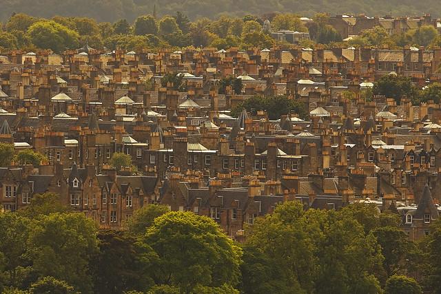 Puzzle urbano : Urban jigsaw (Edinburgh from Arthur's Seat, Scotland, United Kingdom)