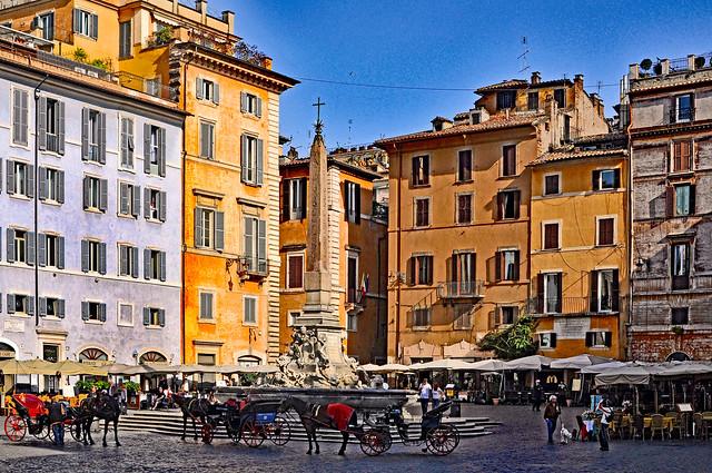 Fonatana del Pantheon & Piazza della Rotonda, Rome
