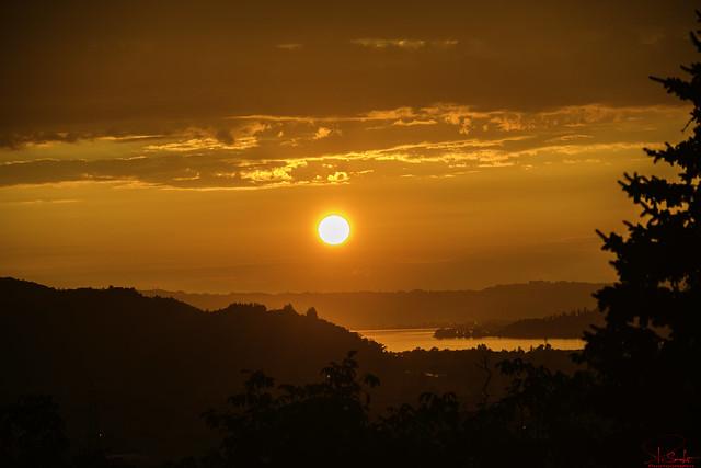 Evening atmosphere with lake view - Kaltbrunn - St.Gallen - Switzerland
